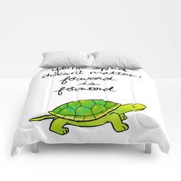 """Forward is Forward"" Turtle Comforters"