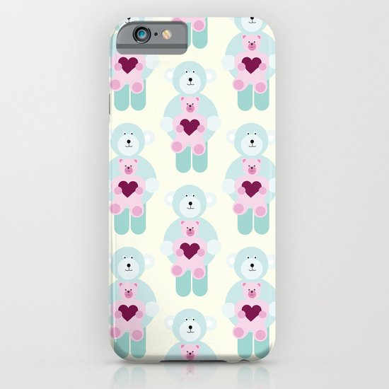 Hearts and bears iPhone & iPod Case