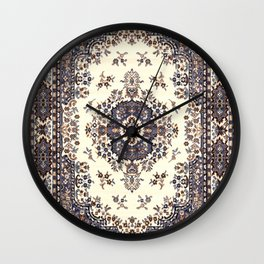 V8 Moroccan Epic Carpet Texture Design. Wall Clock