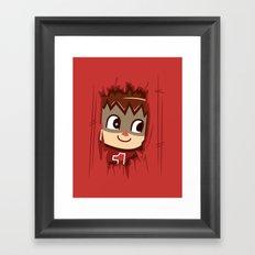 Heeeeere's..... the Villager! Framed Art Print