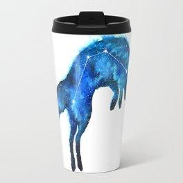 Space Fox | Fox Constellation | Leaping Fox | Double Exposure Fox Travel Mug