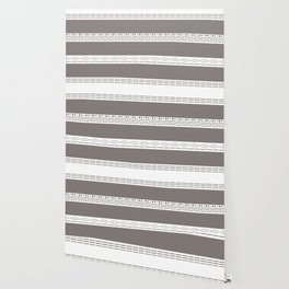 Bohemian grey&white monochromatic neutral pattern Wallpaper