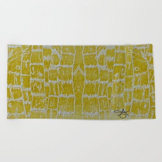 Yellow Sugarcane Beach Towel