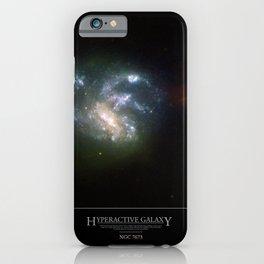 NASA Hubble Space Telescope Poster - Hyperactive Galaxy HGC 7673 iPhone Case