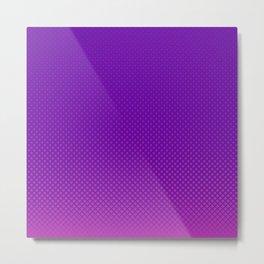 Purple halftone Metal Print