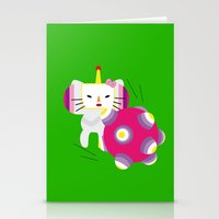 katamari Stationery Cards featuring Katamari Kitty by Martine Verfaillie