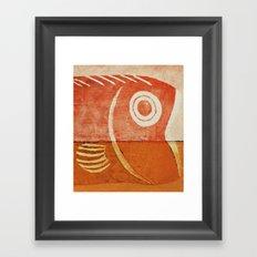 魚頭 Framed Art Print