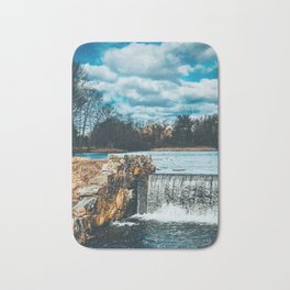Waterfall afternoon Bath Mat