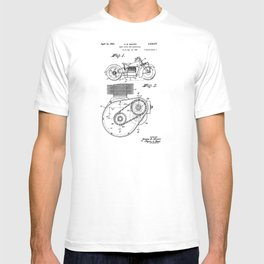 Motorcycle Patent Art T-shirt