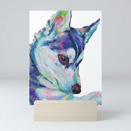 Husky Pup Mini Art Print
