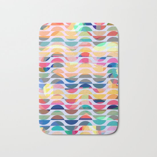 Happy waves Bath Mat