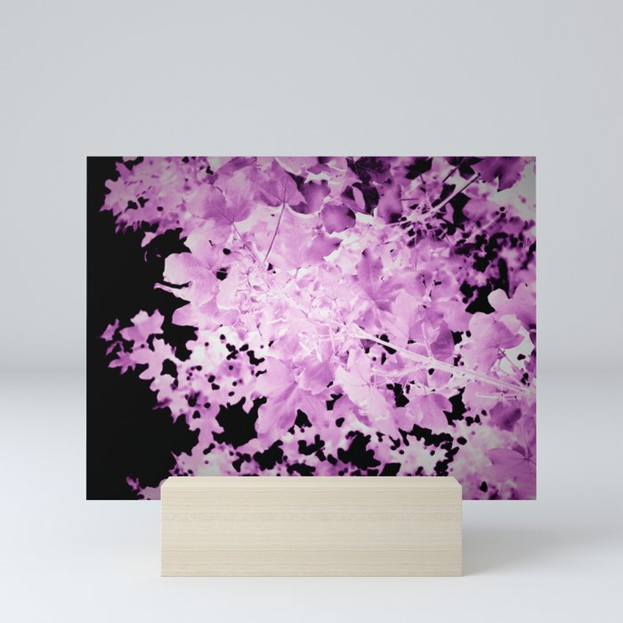 Purple Leaves Mini Art Print @society6