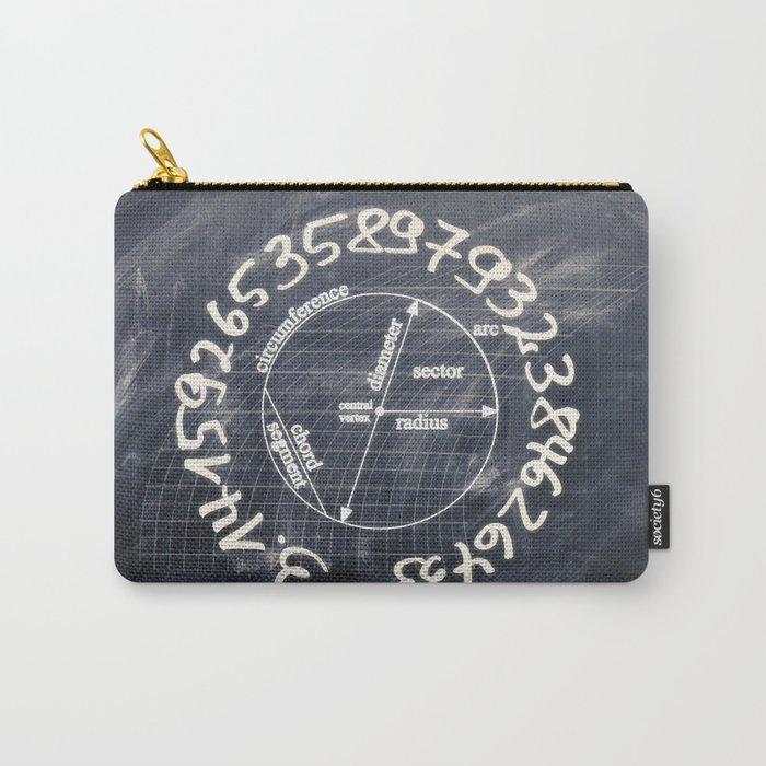 pi-black and white Carry-All Pouch