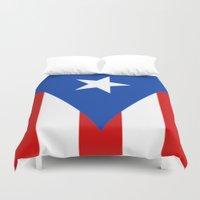 puerto rico Duvet Covers featuring Puerto Rico by McGrathDesigns