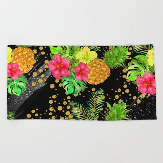 Summer Glitter #8 Beach Towel