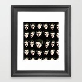 brideoffrankensteinmaskpattern Framed Art Print
