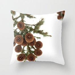 (Spruce or Fir) Cones Throw Pillow