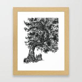 Under the Lighting-Blasted Tree Framed Art Print