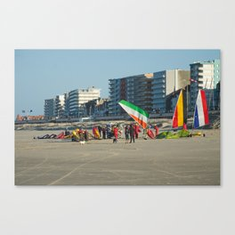 Chars à voile Beach Canvas Print