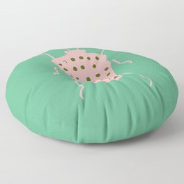 arthropod aqua Floor Pillow