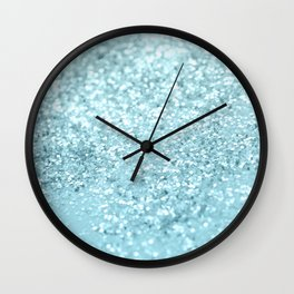 Pastel Blue Glitter Dream #1 #shiny #decor #art #society6 Wall Clock