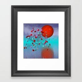 fancy tree and full moon -2- Framed Art Print