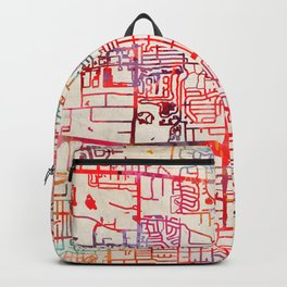 Glendale Heights map Illinois IL Backpack