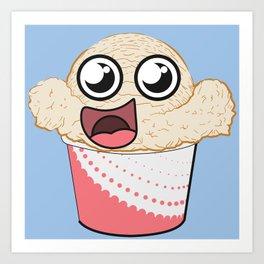 Ice Cream Scoop Pal! Art Print