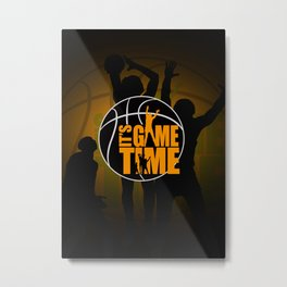 It's Game Time - Yellow Metal Print