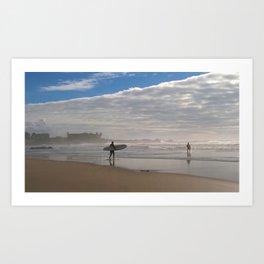 Praia do Castelo do Queijo Beach, Porto, Portugal Art Print