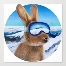 Ski Bunny Canvas Print