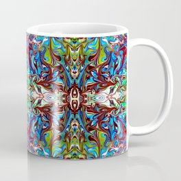Colorful Abstract  Marbling ,Pattern Tradional Coffee Mug