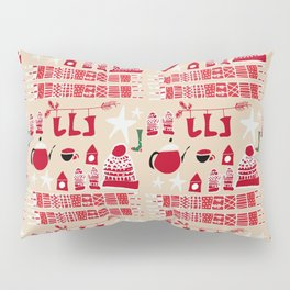 winter gear ivory Pillow Sham