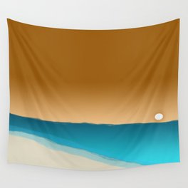 beach sunset 2 Wall Tapestry