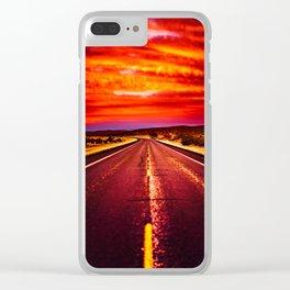 Desert Sunrise, Big Bend, Texas Clear iPhone Case
