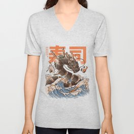 Great Sushi Dragon Unisex V-Neck