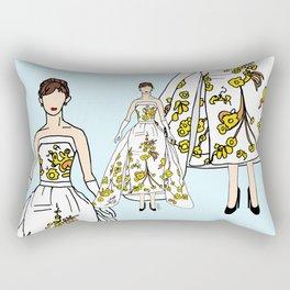Audrey Vintage Retro Fashion 2 Rectangular Pillow