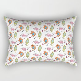Fat Cat White Rectangular Pillow
