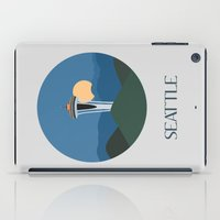 seattle iPad Cases featuring Seattle by uzualsunday