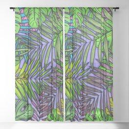 Parlour Palm & Monstera Sheer Curtain