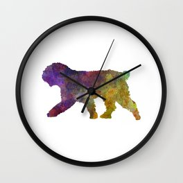 Spanish Water Dog in watercolor Wall Clock