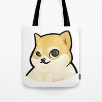 plain Tote Bags featuring PLAIN DOGE by ocamixn