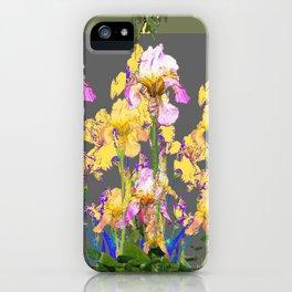 SPRING IRIS GARDEN FLORAL & IVY PATTERN DESIGN iPhone Case