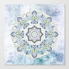 BLUE YERA MANDALA Canvas Print