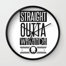 Black Panther Straight Outta Wakanda Wall Clock