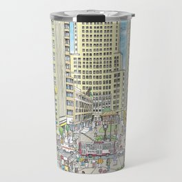 Downtown Sao Paulo, Martinelli Building, Brazil Travel Mug