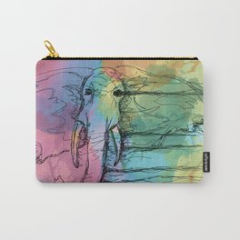Watercolor for Elephants. Carry-All Pouch