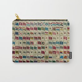 Vintage Naval Flags of The World Illustration Carry-All Pouch