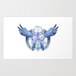 The Four-Faced Goddess Art Print