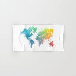 World Map splash 1 Hand & Bath Towel